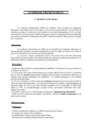 le syndrome premenstruel revisite en 2008 - CHU Montpellier