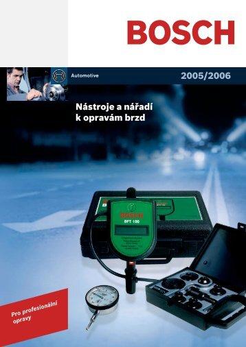 Nářadí pro opravu brzd - Automobilová technika - Bosch