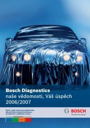 Bosch Diagnostics - Automobilová technika - Bosch