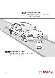 Ultrazvuková pomůcka při parkování pro zadní část vozidla