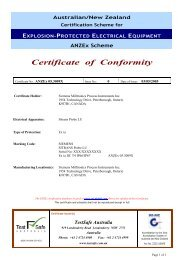 Certificate of Conformity - Siemens