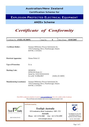 Dual Technology Vst  Certificate Of Conformity