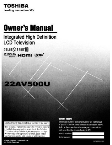 Own8r's Manual