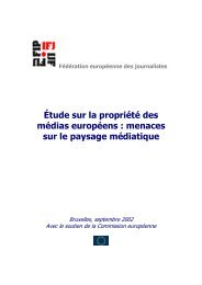 Étude sur la propriété des médias européens : menaces sur le ...