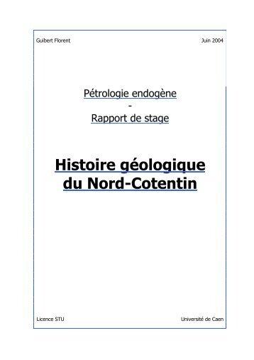 Histoire géologique du Nord-Cotentin - Page d'accueil