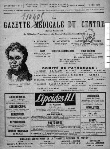 La Gazette médicale du Centre