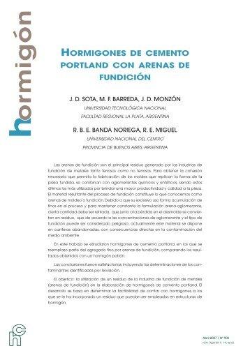 hormigones de cemento portland con arenas de fundición - LEMaC ...