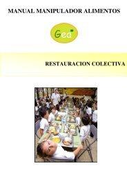 Restauración Colectiva (PDF) - Cursos Manipulador de Alimentos