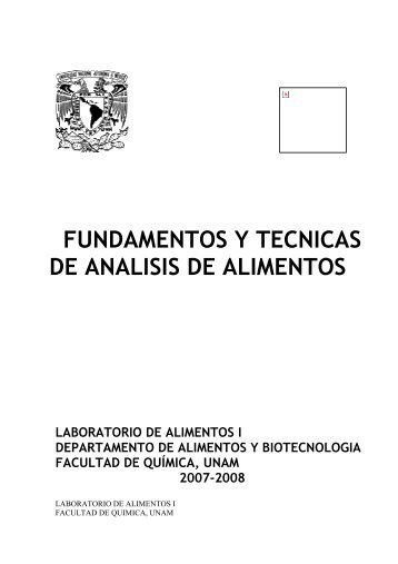 fundamentos y tecnicas de analisis de alimentos - DePa - UNAM