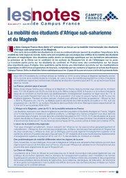 La mobilité des étudiants d'Afrique sub-saharienne et du Maghreb