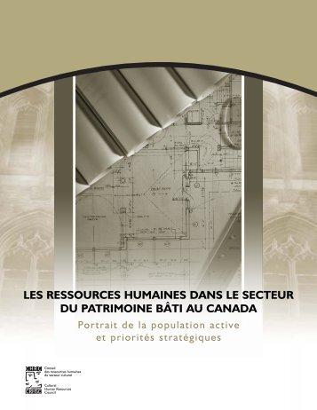 Les ressources humaines dans le secteur du patrimoine bâti au ...
