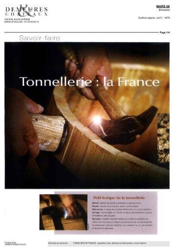 Petit lexique dè la tonnellerie - Tonneliers de France