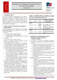 Résistance à l'oseltamivir de souches A(H5N1) Asie du Sud-est ...