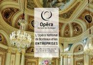 Guide des prestations Entreprises - Opéra de Bordeaux