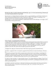 Forældrepjece Børnehuset Klokkervej Åbyhøj ... - Dagtilbud-Aarhus