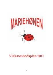 Virksomhedsplan for Mariehønen - Dagtilbud-Aarhus