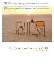 Un Taxi pour Tobrouk 2010 - Amis de l'Art rupestre saharien (AARS)