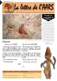 La Lettre - Amis de l'Art rupestre saharien (AARS)