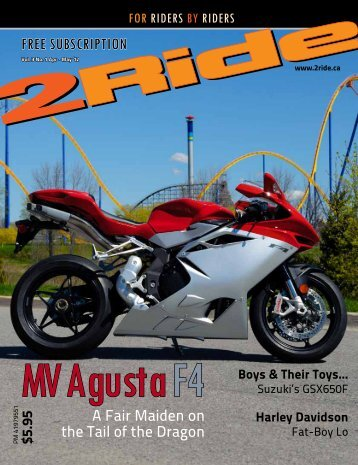 FREE SUBSCRIPTION - 2Ride Motorcycle Magazine