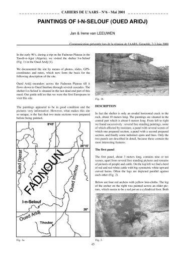 paiNtiNGs of i-N-seLouf (oued aridj) - Amis de l'Art rupestre saharien ...