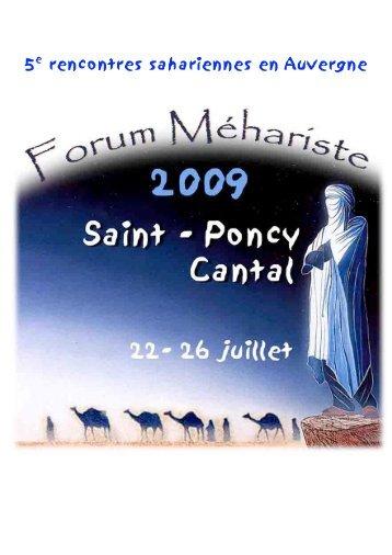 5e rencontres sahariennes en Auvergne - Amis de l'Art rupestre ...
