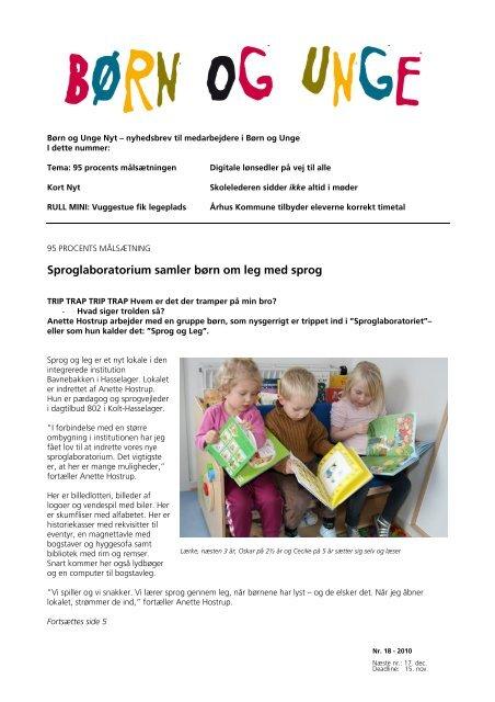 2010 - Børn og Unge Nyt nr. 18.pdf - Dagtilbud-Aarhus