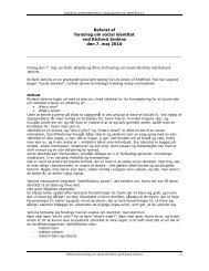 Referat af foredrag ved Richard Jenkins.pdf - Dagtilbud-Aarhus