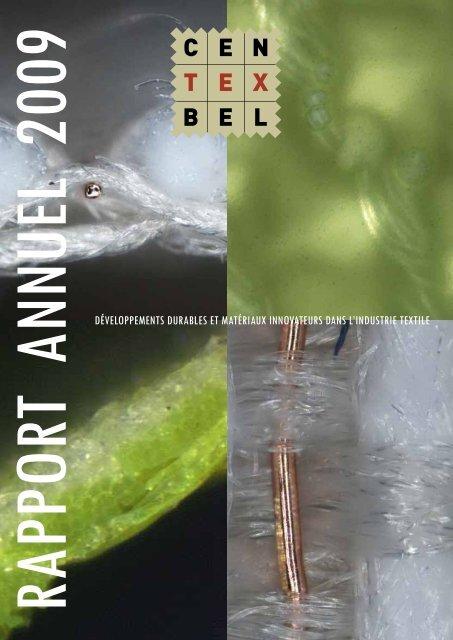 développements durables et matériaux innovateurs ... - Centexbel