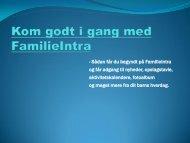 Kom godt i gang med FamilieIntra - Dagtilbud-Aarhus