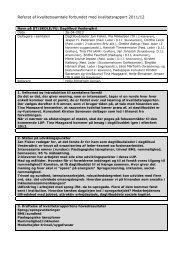 Referat af kvalitetssamtale forbundet med ... - Dagtilbud-Aarhus