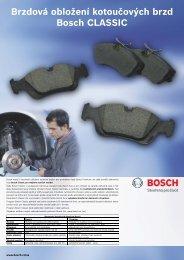 Brzdová obložení kotoučových brzd Bosch CLASSIC
