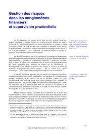 Gestion des risques dans les conglomérats financiers et supervision ...