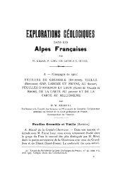 EXPLORATIONS GÉOLOGIQUES - Revue de géologie alpine