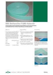 KBS-Stellstreifen federnd Prospekt - A. Meier AG