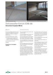CA Calciumsulfat-Estrich - A. Meier AG