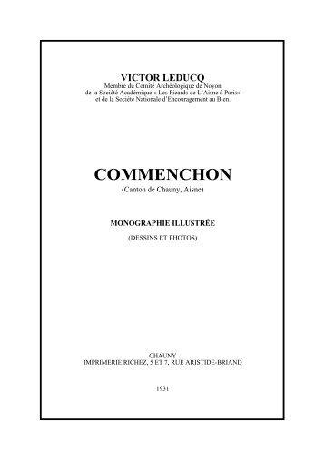 COMMENCHON - Mémoires du Chaunois
