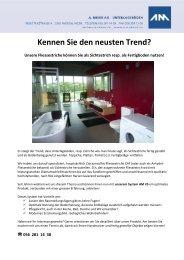 Der Trend - Sichtestriche - A. Meier AG