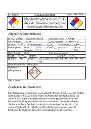 Natriumhydroxid (NaOH) - ABC-Gefahren