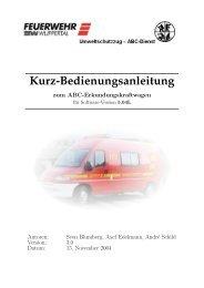 Kurz-Bedienungsanleitung zum ABC ... - ABC-Gefahren