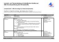 Lernziel- und Themenkatalog mit detaillierten Inhalten zur ABC ...