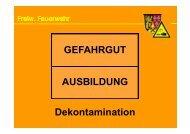 GEFAHRGUT AUSBILDUNG Dekontamination