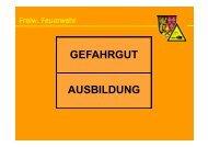GEFAHRGUT AUSBILDUNG