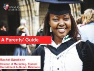 Parent Information Evenings (Scotland) - University of Aberdeen