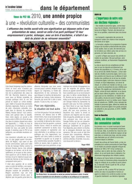 Régionales 2010 - Le Travailleur Catalan