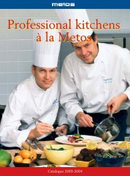 Professional kitchens ? la Metos Professional kitchens ? la Metos