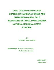 LAND USE AND LAND COVER CHANGES IN HARENNA FOREST ...