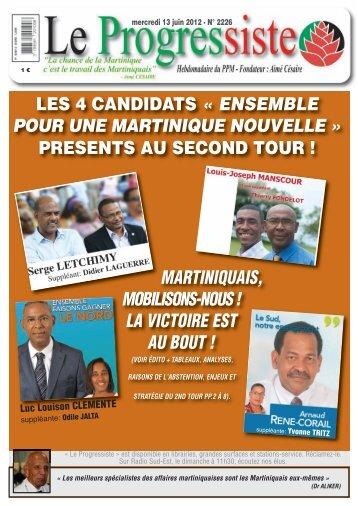 Le Progressiste, n°2226 - PPM – Parti Progressiste Martiniquais