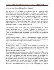 Discours - Société pédagogique vaudoise