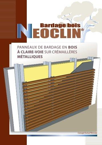 Bardage bois . Néoclin, panneaux de bardage en bois à claire voie ...