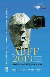 ABFF 2013 Program Guide - American Black Film Festival